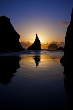 On the Rocks - - - Bandon, Oregon