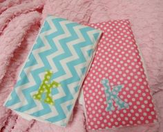 newborn baby girl personalized burp cloth with by SugarRidgeBabies, $15.00