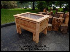 Cedar Planter Box / Reclaimed Wood Planter / by ProjectSalvation