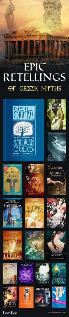 20 great retellings of Greek Mythology. If you love retellings, ranging from the literary to the paranormal, check out these exciting books.