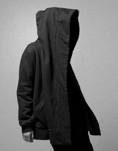 M X D V S — Oversized hooded coat black from Pleasure...