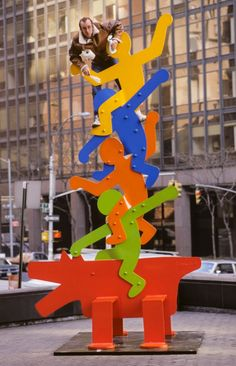 Keith Haring - Dog and Acrobats