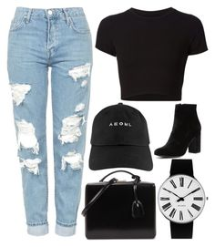 """""""32"""" by bswizzzlee ❤ liked on Polyvore featuring Getting Back To Square One, Topshop, Mark Cross, Rosendahl and Witchery"""