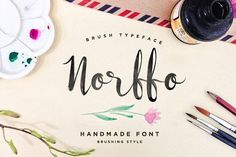 Norffo Font + Watercolor Brush by alit design on @creativemarket