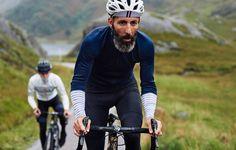 Maillot cycliste pour hommes Arlette Audax en laine mérinos bleue | Café du Cycliste