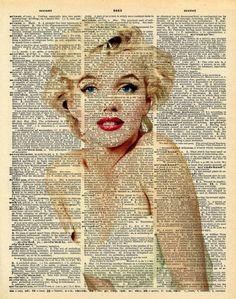 (notitle) - Vanessa S. Decoupage Vintage, Decoupage Paper, Vintage Diy, Vintage Images, Marilyn Monroe Kunst, Marilyn Monroe Artwork, Arte Peculiar, Etiquette Vintage, Foto Transfer