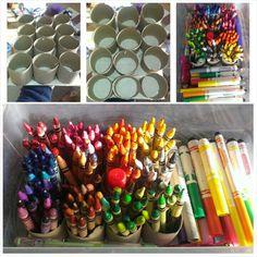 Crayon storage organization