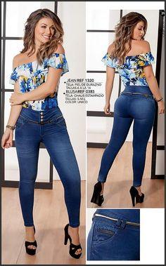 Pin by Yaritza Del Valle Castillo on Moda para damas in 2020 Denim Fashion, Curvy Fashion, Fashion Outfits, Womens Fashion, Fashion Fashion, How To Make Clothes, Best Jeans, Denim Outfit, Girls Jeans