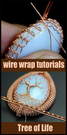 Wire Jewelry Making, Handmade Wire Jewelry, Wire Crafts, Jewelry Crafts, Jewelry Art, Wire Wrapped Pendant, Wire Wrapped Jewelry, Bijoux Wire Wrap, Wire Weaving Tutorial
