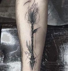 Artistic Arrow Tattoo by Frank Carrilho: