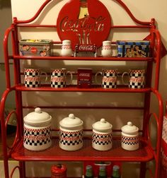 ♥︎Coca-Cola Metal Baker's Rack - I owed all the stuff pictured here and the corner rack that matches :)