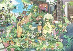 Erika and Natane with Grass Pokemon Plant Pokemon, Grass Type Pokemon, Pokemon Fairy, Pokemon Fan Art, Pokemon Images, Pokemon Pictures, Pokemon Legal, All Legendary Pokemon, Pikachu