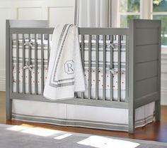 """Emery Crib (in white) #pbkids 51.25"""" wide x 30.25"""" deep x 40.25"""" high $499"""