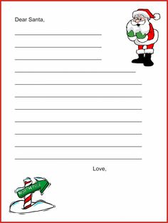 Santa Letter Free  Cute Template To Write A Letter To Santa  A