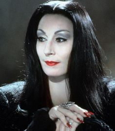 Anjelica Huston as Mortisha Addams Family Tattoo, Anjelica Huston, All Things Fabulous, Fright Night, Family Tattoos, Moustache, Pretty Pictures, Movies And Tv Shows, Cool Girl