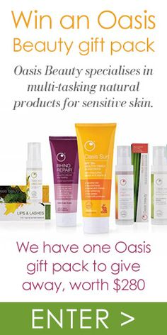 #RePin to Win an Oasis #Beauty Gift Pack! #competition #skincare