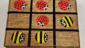 LadyBug & Bee Tic Tac Toe - Summer Craft