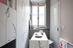 A casa em um quarto: um apartamento de 8 mq