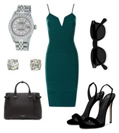 """""""Hitting the office in style, who said women can't be successful"""" by milanedmonds-1 on Polyvore featuring Giuseppe Zanotti, Burberry, Rolex, men's fashion and menswear"""