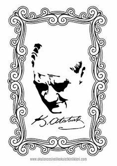 ATATÜRK BOYAMA SAYFALARI/10 KASIM-23 NİSAN-CUMHURİYET BAYRAMI Mandala, Cards, Maps, Playing Cards, Mandalas