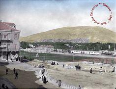 دمشق من محطة الحجاز - في العام 1918