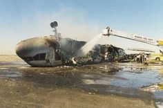 NEW JERSEY 31 July 1997 - FedEx Flight 14 crashed during landing at Newark International Airport. The pilot was unable to slow down the descent of the aircraft, and it bounced and rolled on the runway, eventually coming to rest on its back and catching fire. All 5 on board survived.