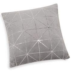Coussin doux gris 40 x 40 cm DOWNTOWN -