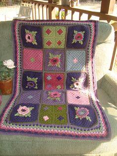 Nano's Granny square lapghan (pattern)