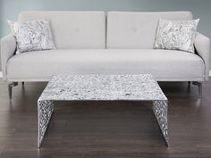 Elegant Beautiful coffee table in silver https beliani ch