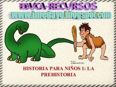 Historia para niños 1 la prehistoria Projects For Kids, Presentation, Fictional Characters, Stories For Children, Social Studies, Parenting Tips, Prehistoric Animals, Events, Dinosaurs