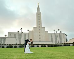 Sara & Bryce at the LA LDS Temple.  Bridals groomals wedding photography welcomedtempest.blogspot.com