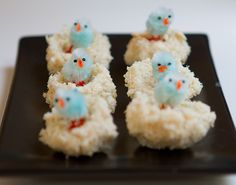 White Chocolate Coconut Easter Nests