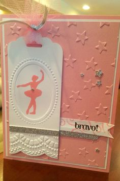 Dance Recital Card Ballerina Dancing, Ballet Dancers, 7th Birthday, Birthday Cards, Dance Teacher Gifts, Dance Recital, Homemade Cards, Card Making, Paper Crafts