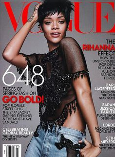 Rihanna Is Vogue's March Cover Gal #Refinery29