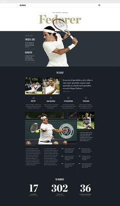 Athlete page design