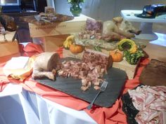 PIG OUT: Display of charcuterie at the Epicurean Palette, Rat's Restaurant, Grounds For Sculpture, Hamilton, NJ.