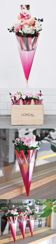 로레알 파리 - 블로썸 카레스 프레스킷 cosmetics packaging design flower