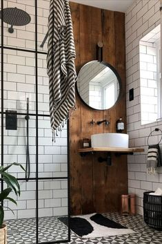 Fixtures and fittings can really add to your modern bathroom design with little . Fixtures and fittings can really add to your modern bathroom design with little details of interest contributing to the styling. Industrial Bathroom Design, Bathroom Interior Design, Industrial Living, Industrial Style Bedroom, Industrial Farmhouse, Industrial Interiors, Farmhouse Decor, Modern Industrial Decor, Rustic Bathroom Designs