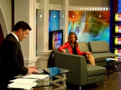 WFMJ Today's Mike Case and Lauren Lindvig during a commercial break!