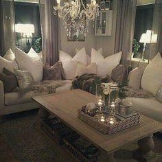 70 Beautfiul & Cozy Living Room Decoration Ideas - Home Decor & Design Glam Living Room, Cozy Living Rooms, Apartment Living, Home And Living, Living Spaces, Small Living, Modern Living, Luxury Living, Modern Room