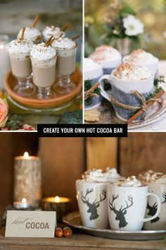 Throwing a fall or winter wedding? Create your own stylish hot cocoa bar with these tips!
