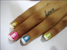 Simple Shoe Lace Nail Art Tutorial Step By Step