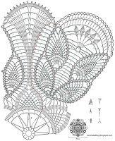 Crochet Art: Crochet Tablecloth Pattern Free - Pineapple Crochet Lace - Tulip flowers
