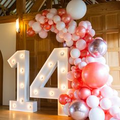 Balloon Garland Girls Birthday Party More from my site Birthday decor with Pink Balloon Garlands Kit Teenage Girls Birthday Party Ideas, 14 Birthday Party Ideas, Teenage Parties, 13th Birthday Parties, Birthday Party Decorations, Party Ideas For Teenagers, Birthday Goals, 13 Birthday, Balloon Garland