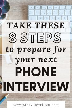 These 8 steps were such important reminders for me heading into the phone interview for my dream job! I feel prepared and confident to nail the interview. Questions To Ask Employer, School Interview Questions, Job Interview Preparation, Interview Questions And Answers, Job Interview Tips, Interview Training, Interview Techniques, Job Search Tips, Work Search