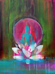 "Buddha ""Spirit of ZEN"" 16 x 12 ""  Present for Him // Present for Her // Fine Art Print on Canvas // Wall Art // Home sweet Home // Lotus"