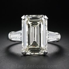 7.48 Carat Emerald-Cut Diamond Ring