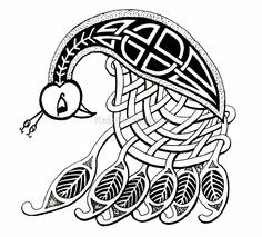 Peacock- celtic by KalonaCreations