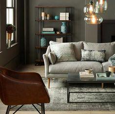 Amazing westelm living room...will definitely copy it. Warm and elegant