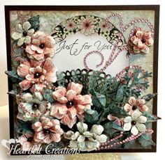 Heartfelt Creations | Arianna Blooms And Fan | Arianna ...